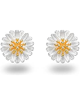Fashmond Ohrstecker Damen Blumen Kornblumen Ohrschmuck aus 925 Sterling Silber Geschenke für Mädchen Kinder Frauen...