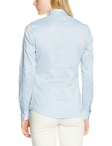 Tommy Hilfiger Amy Str Shirt Ls W1, Blouse Femme Bleu (POWDER BLUE 499)