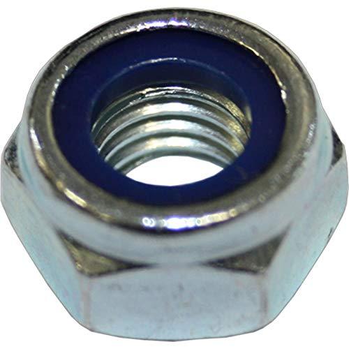 Dresselhaus Écrous 6 pans avec anneau en plastique, forme basse, M 20 mm, 50 pièces, galvanisé