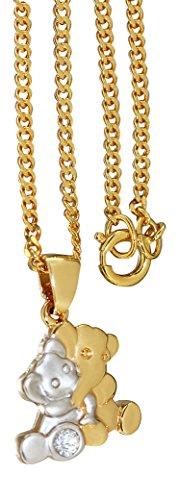 hobra de oro de elefantes enamorados–Cadena y colgante de oro chapado en...