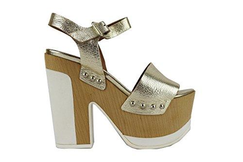 MY COCHO AH540 sandali donna 36 EU oro pelle