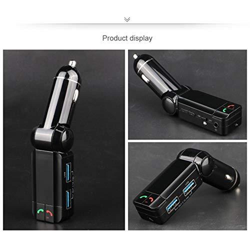 ghfcffdghrdshdfh BC06S Bluetooth Car Kit BT Freisprechfunktion FM Transmitter MP3-Player Doppel-USB-Ladegerät mit Strom Spannung Detector