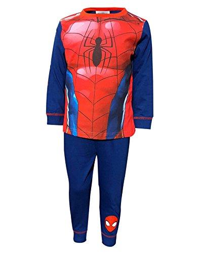 Top Spiderman Kostüm - Marvel Jungen Spiderman Kostüm Neuheit Pajama 2-3 Jahre