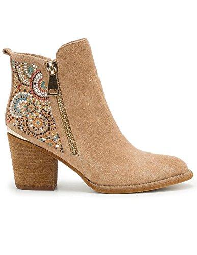 Alma en Pena Bottines - Boots, Couleur Brun Clair, Marque, modèle Bottines - Boots V18118 Brun Clair