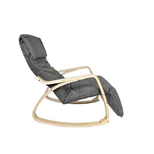 Mari-Home-Melton-Sedia-a-dondolo-e-poltrona-comoda-e-rilassante-cotone-lavabile-con-cuscino-e-poggiapiedi-regolabile-colore-Grigio