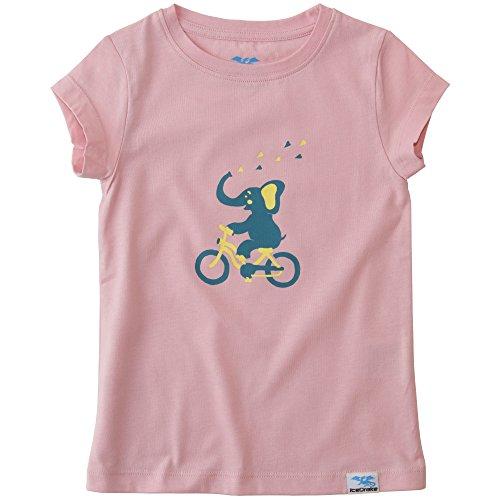 IceDrake Baby & Kinder T-Shirt Elefant (rosa) aus Bio Baumwolle
