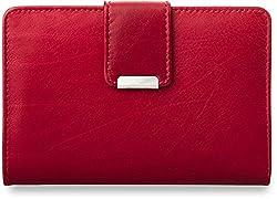 praktisches Damen - Portemonnaie Leder - Geldbörse (rot)