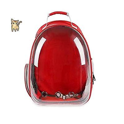 KKIUR mascota portátil viaje transpirable mochila espacio cápsula burbuja diseño gato y cachorro impermeable bolso mochila (rojo) por HZFJP