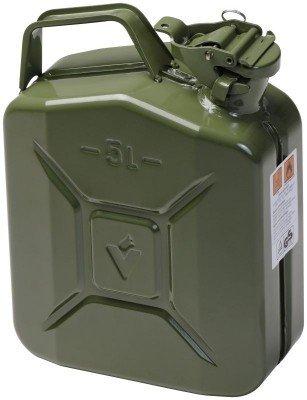 Preisvergleich Produktbild Metall-Kraftstoff-Kanister CLASSIC 5l, mit UN-Zulassung für Benzin, Diesel und andere Gefahrgüter, oliv