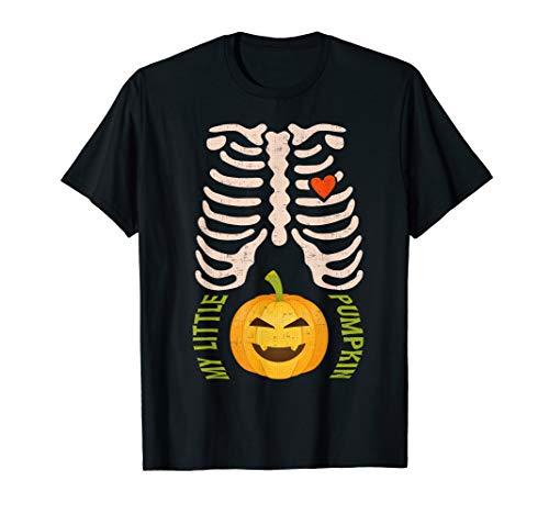 Halloween Schwangere Skelett Schwangerschaft Ankündigung T-Shirt