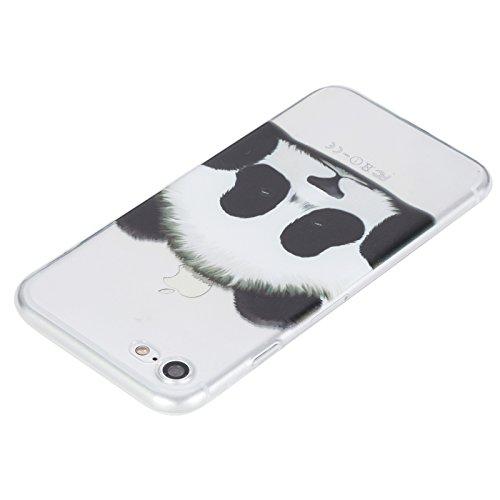 """Coque iPhone 6/6S 4.7"""" case Feeltech [Cristal Clair] Flexible Ultra Mince Gel TPU Bumper Couverture en Silicone avec Motif de Conception de Bande Dessinée Mignonne Colorée [Amortisseur Résistant aux R Panda"""