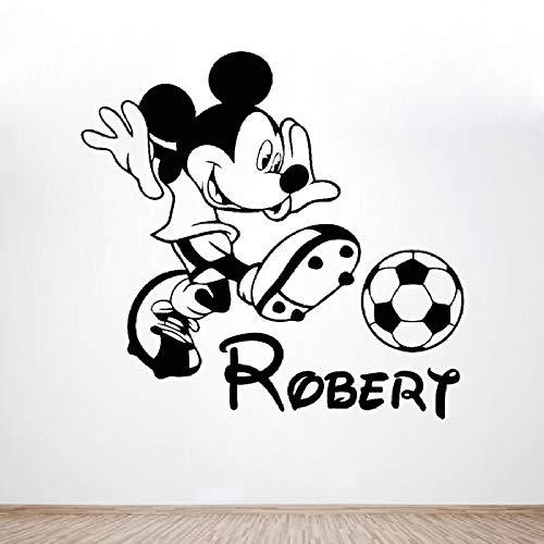 woyaofal Junge Name Aufkleber Personalisierte Maus Vinyl Wandaufkleber Für Kinderzimmer Cartoon Nette Dekoration Kindergarten Decaks 43x42 cm