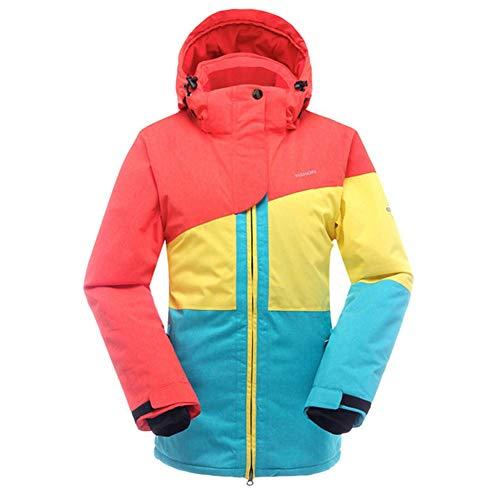 SAENSHING Frauen Skijacke Wasserdichte Bergjacke Winddicht Snowboard Jacke (L, Orange) Orange Snowboard-jacke