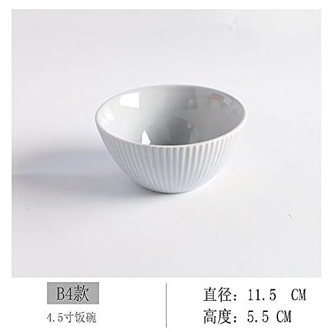 FAN4ZAME Haushalt Keramik Schüssel Schüssel Schüssel Lackiert 5-Zoll Schüssel Suppe Zum Frühstück Reisbrei Relief Sky Blue B4