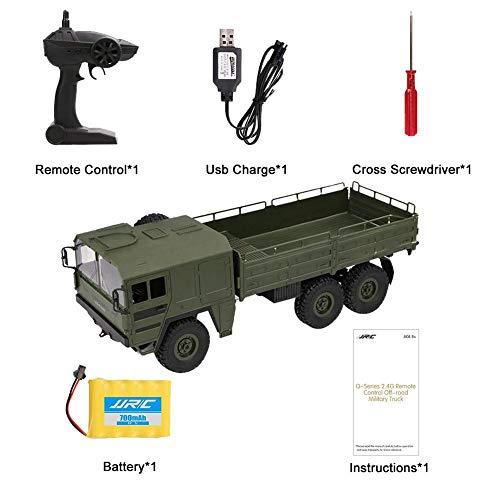 Starter Ferngesteuertes Militärfahrzeug, RC Auto Ferngesteuerte Militär LKW,JJRC Q64 Sechs Rad Fernbedienung Fahrwerk Geländewagen, 6 Drive Simulation Auto Modell 1:16 Kinderspielzeug (Militär-lkw)