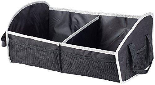Preisvergleich Produktbild PEARL Kofferraum Organizer: Faltbare Kofferraumtasche,  2 Tragegriffe & Trennwand,  52 x 22 x 31 cm (Kfz Zubehör)