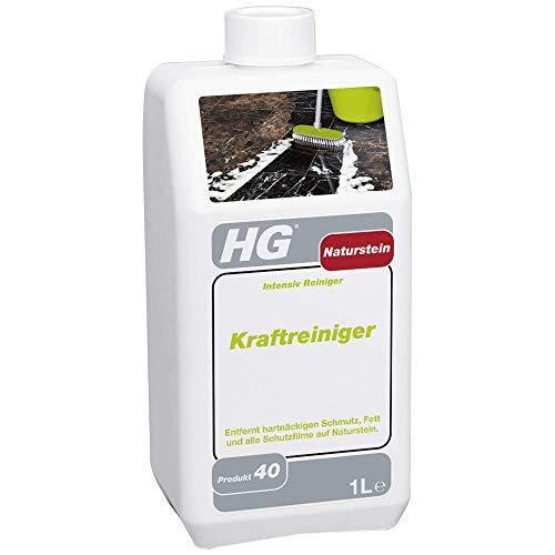 HG Naturstein Kraftreiniger 1L - ist ein leistungsstarker Naturstein Reiniger zur mühelosen Entfernung von Fett und angebackenem Schmutz von Marmor und anderen Natursteinarten