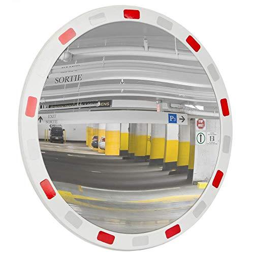 PrimeMatik - Specchio Convesso di Segnalazione e la Sicurezza 45 cm con riflettori