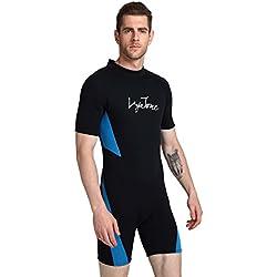 LayaTone Combinaison Shorty Hommes Femmes Combinaison 3mm Néoprène Shorts Combinaison pour la plongée sous-Marine Natation Snorkeling