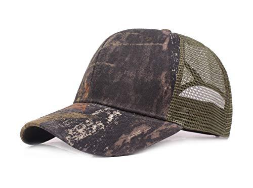 Baishide UnisexCamouflageBaseballCapSommer Mesh Hüte Verstellbar Trucker Hüte Schirmmütze (Schwarz) -