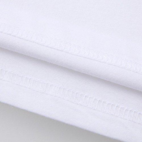 OverDose Herren Sommer oberteile Printed Oversize Slim Fit Casual Kurzarm Basic T-Shirts Tops Rundhals Sport Bluse Printed Tees Hemd L
