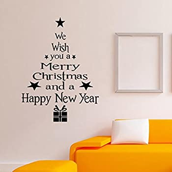Window Sticker, Xinantime Christmas Tree Letters Stick Wall Art Decal Mural Wall  Sticker Part 95