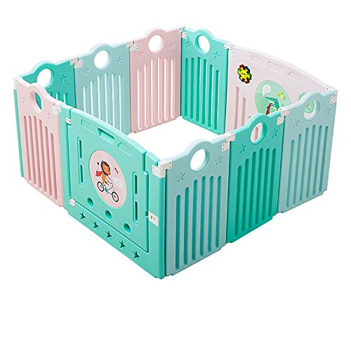 Aocean Laufstall Baby Klappbar,Spielgitter Playpen für Kinder mit Laufgitter, Zaun, Spielcenter tragbar mit Tragetasche und atmungsaktivem Mesh für Neugeborene,Indoor- und Outdoor-Spiele -