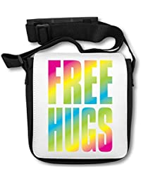 Hugs Rainbow Letters Hippies Cool Phrases Thoughts Fonts Lettering Borsa a  tracolla 4a6ac8021d3
