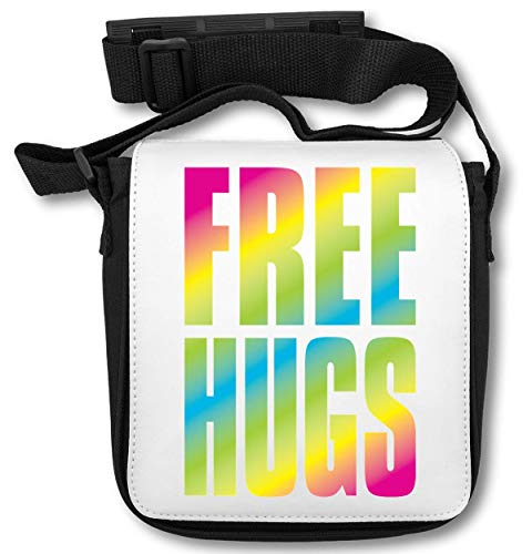 Hugs Rainbow Letters Hippies Cool Phrases Thoughts Fonts Lettering Schultertasche (Herr Luke Valentine)