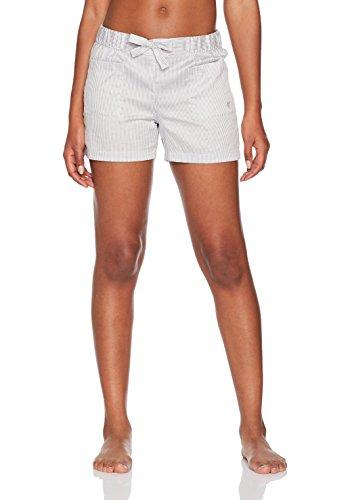 Gestreifte Damen-panty (Marc O'Polo Body & Beach Damen Mix Shorts Schlafanzughose, Weiß (Off-White 102), 36 (Herstellergröße: S))