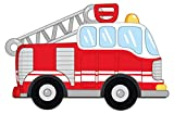 Wandtattoo Kinderzimmer Feuerwehr Auto rot weiß Wandsticker Fahrzeuge Deko