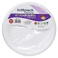 """Hotpack White foam plate 10""""- 25 Pcs"""