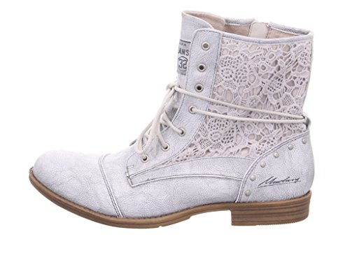 Mustang Damen Stiefelette Silber, Schuhgröße:EUR 43