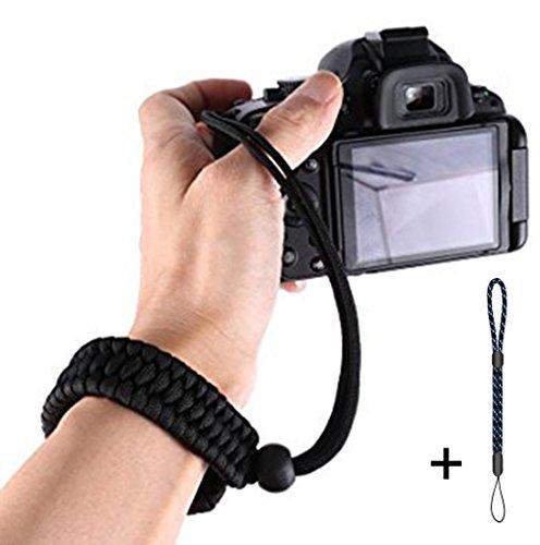 wisdomstar Kamera Handschlaufe, handgefertigt Persönlichkeit Outdoor Überleben Paracord Armband, verstellbar Kamera Handgelenk Gurt für alle DSLR SLR Kamera