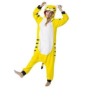 Katara-(10+ Modelos Disfraz Animal Pijama De Una Pieza Adulto Color Tigre Talla 155-165cm(M)(1744)