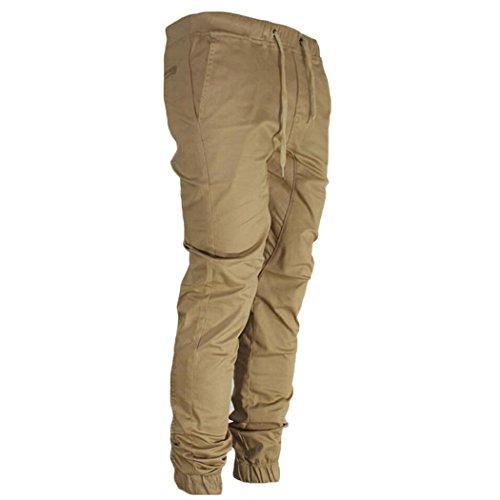 MIOIM Herren Twill Jogging Hose Cargo Chino Sporthose Slim Pant TrainingshoseArmy Style Baumwolle