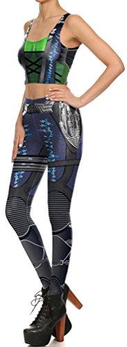 Belsen Damen Leggings mehrfarbig Warrior Small lightning Vest