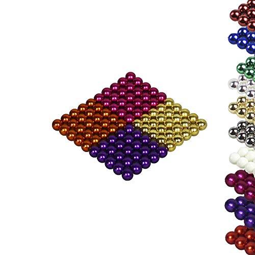Mag-Balls Viele Farben: 100 Magnetkugeln 5mm Neodymmagnet Supermagnet Instudriemagnet: NdFeb 38 (Orange-Lila-Gold-Pink) -