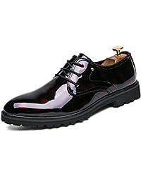 Zapatos Cuero Hombre Vestir Mocasines Zapatos Formales Oxford Clásico Zapatos Boda Fiesta