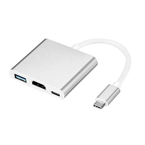USB Typ C Hub HDMI 4K Adapter Multiport USB-C 3.1 auf HDMI / USB 3.0 / Type C weiblich Ladegerät Konverter Kabel für MacBook Google Chromebook Pixel Samsung Galaxy S8 (Micro Hdmi 90-hdmi F)