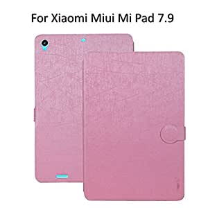 Heartly Premium Luxury PU Leather Flip Stand Back Case Cover For Xiaomi Miui Mi Pad 7.9 - Cute Pink