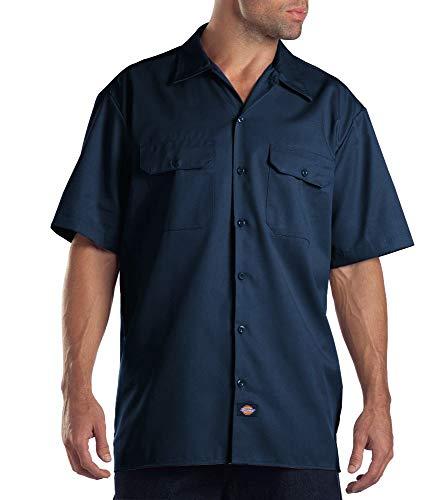 Dickies Herren Regular Fit Freizeit Hemd Shrt/S Work Shirt, Kurzarm, Blau (Navy Blue NV), Gr. X-Large (Herstellergröße: XL) - 2007-basic-mode