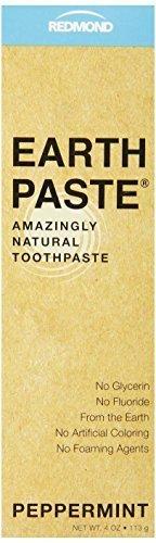 4 Unze Zahnpasta (Redmond earthpaste-Natur non-flouride Zahnpasta, Pfefferminze, 4Unze Tube)