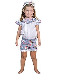 JYC Conjunto de Ropa para Niñas,Conjuntos para niñas Bebe,Niñito Bebé Chicas Hermana Sin Mangas Floral Impresión Tops+Pantalones Cortos Trajes Ropa