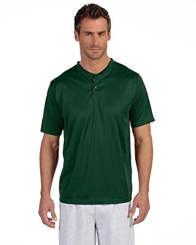 Augusta Sportswear da uomo traspirante Due pulsante Baseball Jersey, Uomo, 426, Dark Green, XXXL
