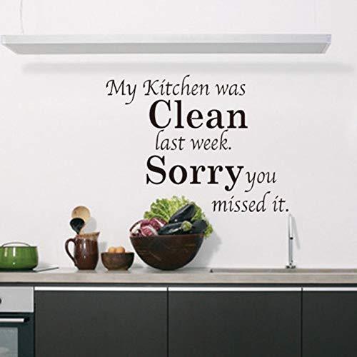 Küche Reinigen Englisch Sprüche Zitate Diy Küche Wandaufkleber Aufkleber Wohnaccessoires Wohnkultur