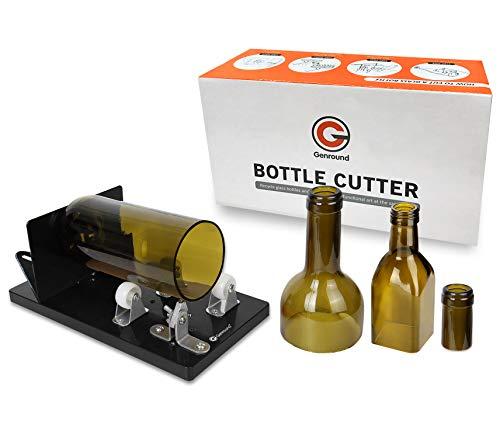 Flaschenschneider, Genround 2019 Aktualisierung 2.1 Glasflaschenschneider, Runde/Quadratische Flasche vom Hals bis zum Body Bottle Cutter, Weinflasche Glasflaschen Schneider Glasschneider für flaschen