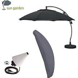 Sun Garden Easy Sun Parasol déporté Plus ø3,75m Set avec pied d'écran et étui - Anthrazit 2