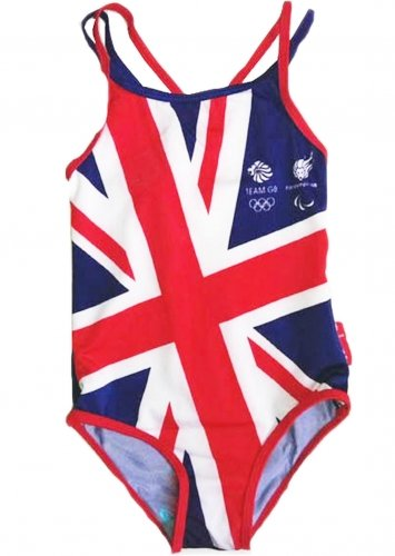 Team GB Official Olympischen Spiele Kostüm Schwimmen,