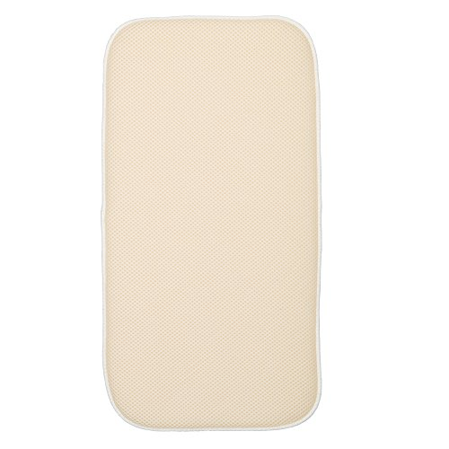 interdesign-41260eu-tapis-de-sechage-de-cuisine-absorbant-idry-4572-x-2286-cm-mini-ble-ivoire-polyes